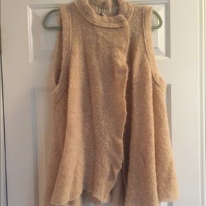 New Free People S tan alpaca swing sweater vest